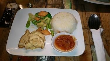 Nasi ayam sayur porsi anak
